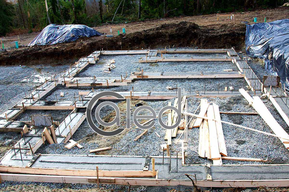 Extensive footings on commercial site